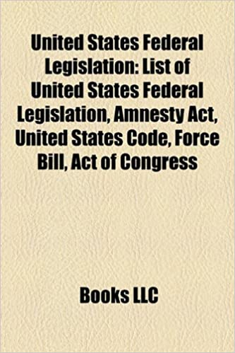 List of United States federal legislation