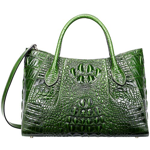 - PIJUSHI Women Handbags Crocodile Top Handle Bag Designer Satchel Bags For Women (5002A, Green)