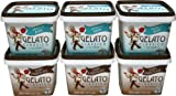 Gelato Classico Combo Pack: 3-Count Dark Chocolate and 3-Count Vanilla Bean, 16-Ounce Cups (Pack of 6)