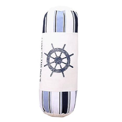 Amazon.com: Cilíndrico de lino de algodón almohada Roll ...