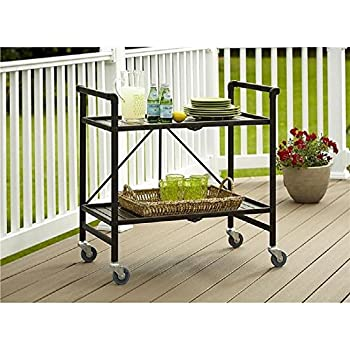 Amazon.com - Indoor or Outdoor Folding, Metal, Rolling Serving ...