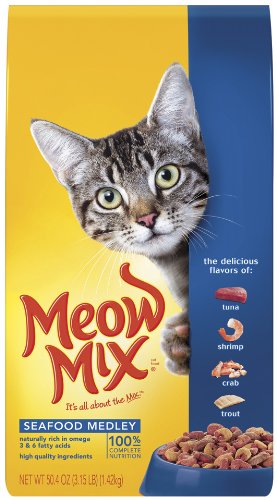 Meow Mix Seafood Medley, 3.15-Pounds (Pack of 3), My Pet Supplies