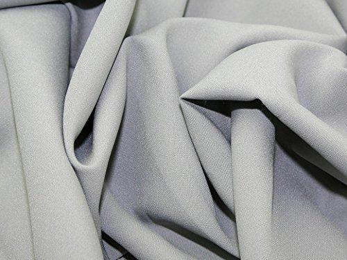 Minerva Crafts Polyester Bi Stretch Suiting Dress Fabric Light Grey - per - Fabric Bi Stretch