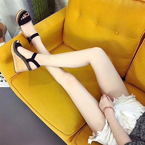 con Tacchi Nero Alti Elegant Alto Sandali estive Scarpe Donna Donna Zeppa Donna Medio Gioiello Scarpe Donna beautyjourney Zeppa Eleganti Donna Tacco Sandali estive Tacco con Scarpe B4Hgq1