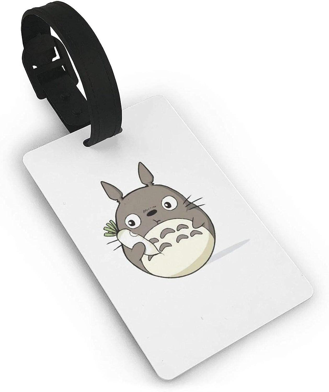 My Neighbo-Ur to-Toro Leder Etiqueta de equipaje maleta titular de la tarjeta de visita documentos de viaje personalizados etiqueta de equipaje PVC 5,4 cm x 8,5 cm