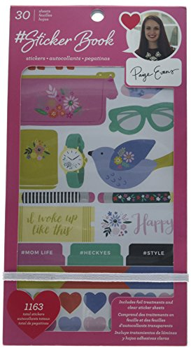 American Crafts 30 Sheet Rose Gold Foil Paige Evans Sticker Book from American Crafts