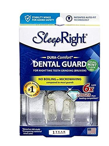 SleepRight Dura-Comfort Dental Guard Mouth Guard To Prevent Teeth Grinding No Boil Super Strong With Mint