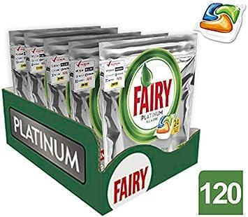 Fairy Caps para lavavajillas – 5 paquetes de x 24 unidades (120 ...