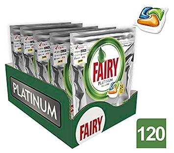 Fairy Caps para lavavajillas - 5 paquetes de x 24 unidades (120 ...