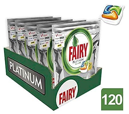 Fairy Caps para lavavajillas – 5 paquetes de x 24 unidades (120 cápsulas en total)