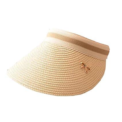 FZXHJR Mujeres Verano Protectores Solares Gorras Bow-Knot Sombrero VacíO Top Sombreros De BéIsbol Gorra
