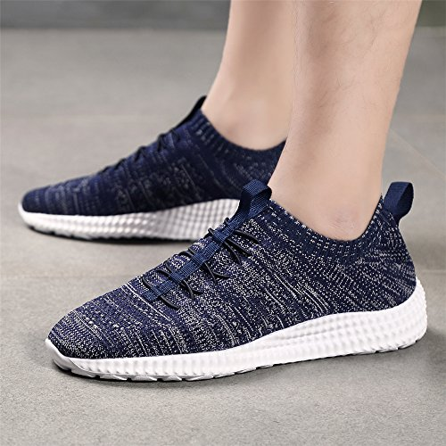 Size Sneakers Gym Mens Lightweight Running Walking Athletic Shoes Trainers Blue 13UK 5UK 37 Breathable Dark qppZFUHz