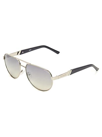 39c1c18f4ddc GUESS Factory Men s Metal Aviator Sunglasses  Amazon.co.uk  Clothing