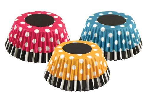 Fox Run 7131 Retro Polka Dot Bake Cup Set, Standard, 75 Cups Fox Run Brands