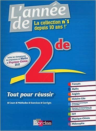 Amazon Fr L Annee De Seconde 2de Toutes Les Matieres