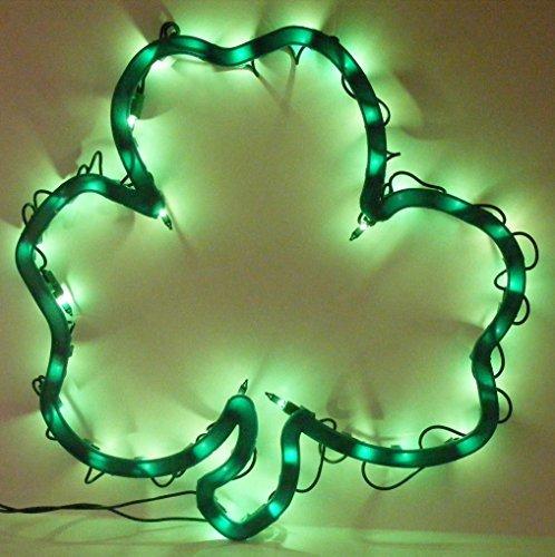 Lighted Window (Lighted Shamrock Sculpture St. Patricks Day Light Window Decor)