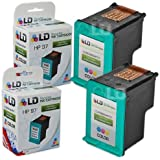 LD © Remanufactured Replacement Ink Cartridges for Hewlett Packard C9363WN (HP 97) Tri-Color (2 Pack)