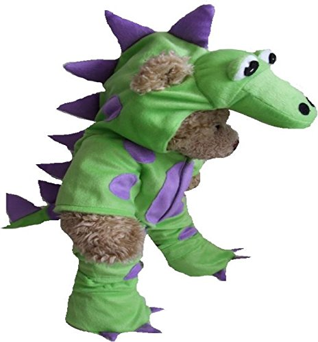 Build your Bears Wardrobe 15-Inch Clothes Fit Build Bear Teddies My Green Dinosaur Costume