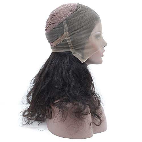 Queen Plus Body Wave 360 Lace Frontal Wig 180% Density Peruvian Virgin Hair Full Lace Cap Band Human Hair Wigs For Black Women Pre Plucked Hairline with Baby Hair (18inch) by Queen Plus Hair (Image #5)