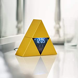 Paladone Legend of Zelda Triforce Alarm Clock, Breakdown Plastic, Playstation Controller