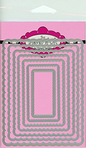Scalloped Rectangles Card Making Dies for Scrapbooking and DIY Crafts by The Stamps of Life - ()