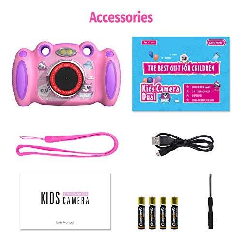 Campark Kids Digital Camera for Kids Age 3-8 Years,Best Birthday Gift
