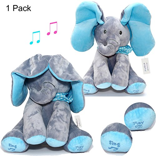 Peek A Boo Elephant Electronic Stuffed Plush Animals Pets To