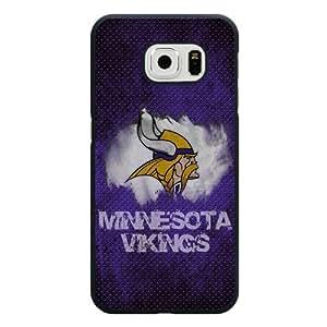 Samsung Galaxy S6 Case, Customized NFL Minnesota Vikings Logo Black Hard Shell Samsung Galaxy S6 Case, Minnesota Vikings Logo Galaxy S6 Case(Not Fit for Galaxy S6 Edge)
