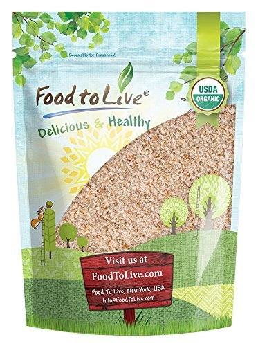 Food to Live Organic Whole Wheat Bread Flour (Whole Grain, Stone Ground, Unbleached, Non-GMO, Unbromated, Raw, Vegan, Bulk, Product of the USA) - 4 Pounds