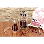 French-Press-Coffee-Tea-Maker-with-2-Espresso-Cups-Double-Wall-Stainless-Steel-Plunger350ml10oz-by-AMFOCUS