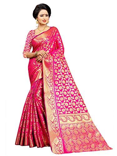 Ek-Pal Women's Banarasi Silk Saree With Blouse Piece