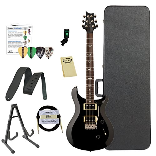 Paul Reed Smith Guitars ST24BK-Kit02 PRS SE Standard 24 Black Electric Guitar with ChromaCast Hard Case & Accessories