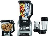 Nutri Ninja Blender Kitchen System, Auto-iQ 1200 Watt 72oz Total Crushing Pitcher and 8-Cup Processor Bowl BL6