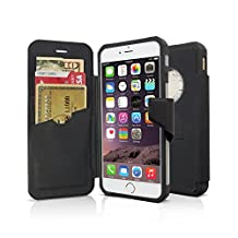 Rokform iPhone 6/6s PLUS Folio Wallet Case and universal magnet car mount (Black)