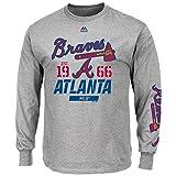 Majestic Atlanta Braves MLB Flawless Victory Long Sleeve Gray T-Shirt