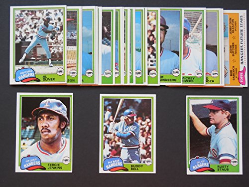 - Texas Rangers 1981 Topps Baseball Master Team Set with year end High Numbers (33 Cards) (AND RECEIVE A FREE 1981 Topps Sticker Rangers Team Set) (Buddy Bell) (Fergie Jenkins) (Rusty Staub) (Jim Sundberg) and More