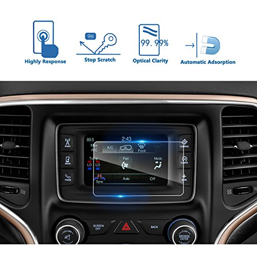 Grand Cherokee Ebay - LFOTPP 2014-2018 Jeep Grand Cherokee Uconnect 5 Inch Car Navigation Screen Protector, [9H] Tempered Glass Infotainment Center Touch Screen Protector Anti Scratch High Clarity