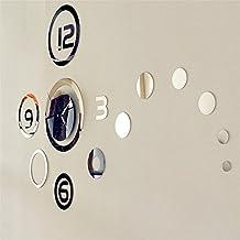Pevor New series 3D Modern Art DIY Mirror Wall Clock perfect for Living Room Decor