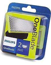 Philips QP220/50 OneBlade Ersättningshuvud, 2 st, Silver/Neongul