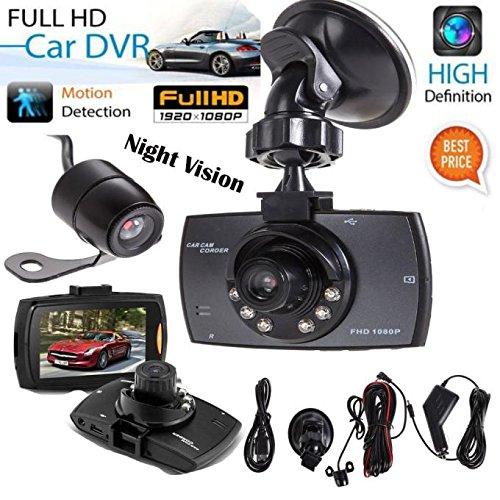 Car DVR,Baomabao 1080P 2.7'HD LCD Dual Lens Car Dash Camera Video Recorder Night (Digital Camera 2.7' Lcd)