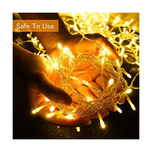 BACKTURE Catena Luminosa Natale, 25M 200 LED Stringa Luci con Adattatore di Alimentazione, 8 Modalità e Luminosità Impermeabile IP44, Decorative per Interno o Esterno Casa Festa Matrimonio 3 spesavip
