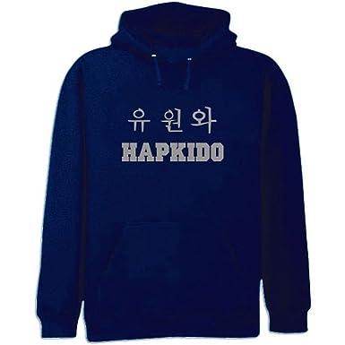 Amazon Sweatshirt Navy Blue Size L Hapkido Symbols Embroidery