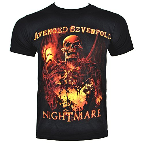 Avenged Sevenfold Wings (Avenged Sevenfold Men's Inner Rage T Shirt - Small, Black)