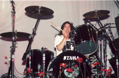 Drum Photo Poster (Dave Grohl Nirvana Poster Photo Drums Drumming Rock N Roll Photos Poster 12x18)
