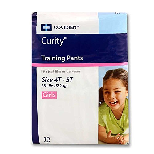 Curity Toddler Pull-On Training Pants for Girls, Size Extra Large - XL (Over 38 lbs), ()