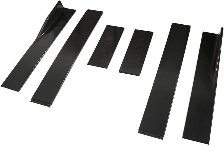 Fesjoy Auto Seitenschweller Extensions Rocker 2.2M Universal Splitters Diffusor Lips Seitenschweller Schwarz Universal-Splitter