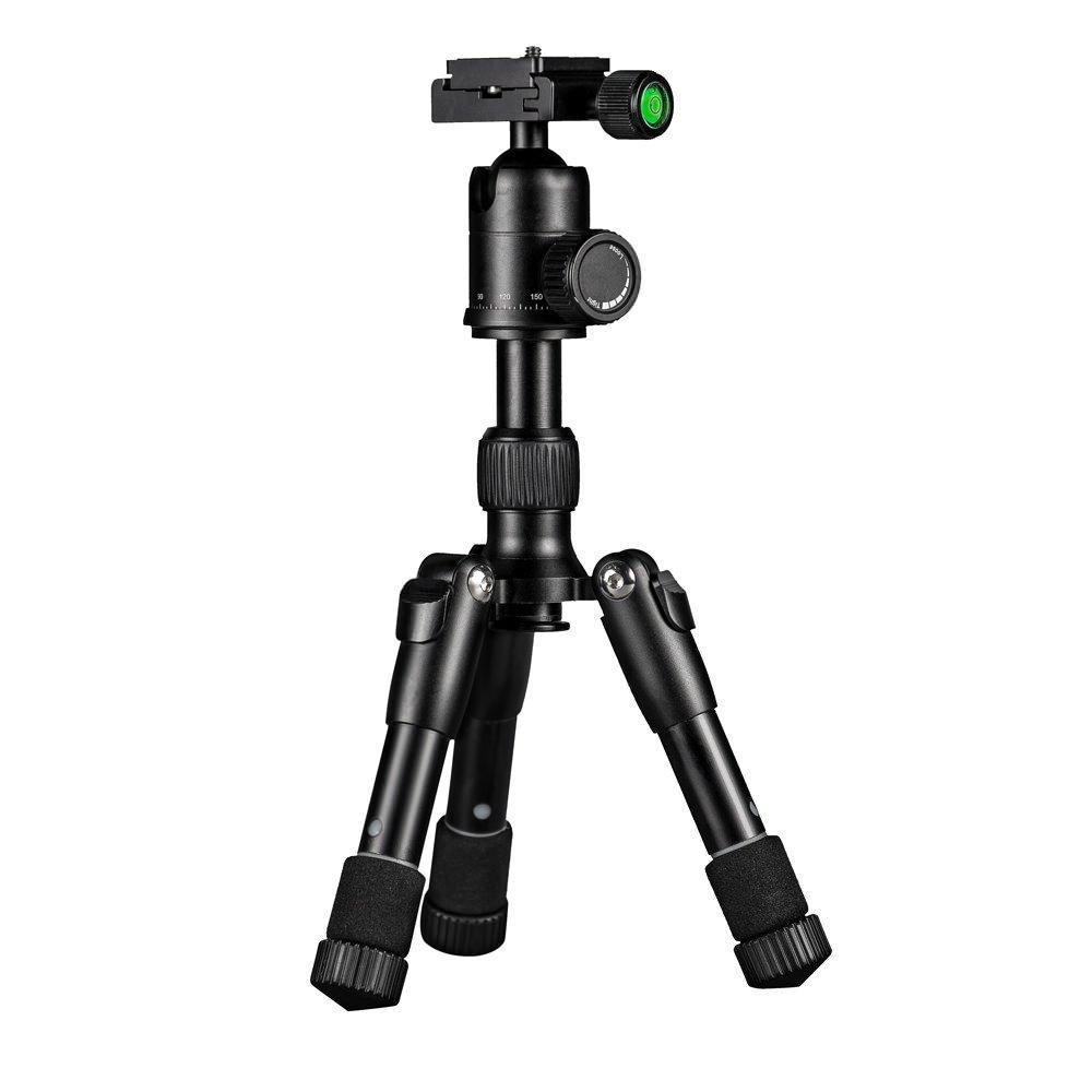 mini Tripod for Camera, Compact Portable Small Flexible mini Tripod Mount with 360 Degree Ball Head, for Canon Digital, DSLR, Video Camera & Camcorder (Black)
