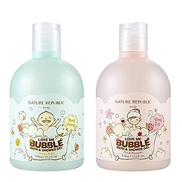 Nature Republic Love Me Bubble Bath And Shower Gel Floral Bouquet 510ml