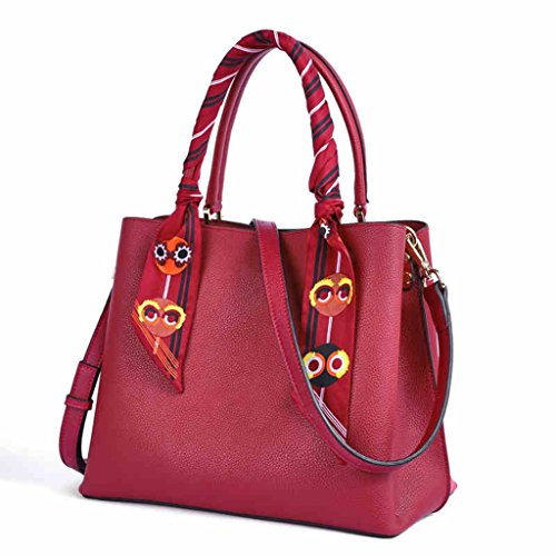 ZCJB Bolso Las Cuero Bolsas Simple De Color Grande Hombro Mensajero Bolso Bolso Bolsas Grande Bolsas Bolsas De Rojo Cruzadas Viaje De De Negro De Mujeres 4wx4nrX