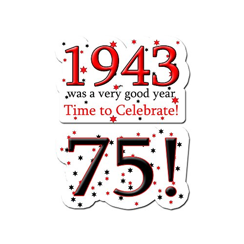 1943 Birthday Stickers